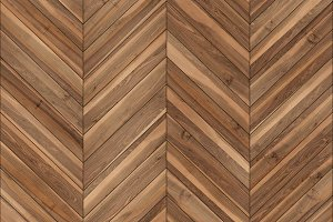 Seamless wood parquet texture (chevron brown)
