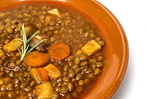 Lentils with pork