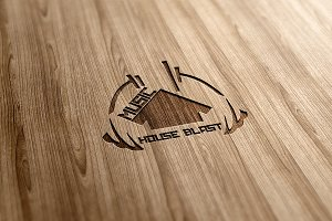 Music House Blast Logo Design