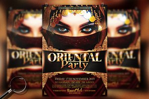 Oriental Party | Gold Flyer Template