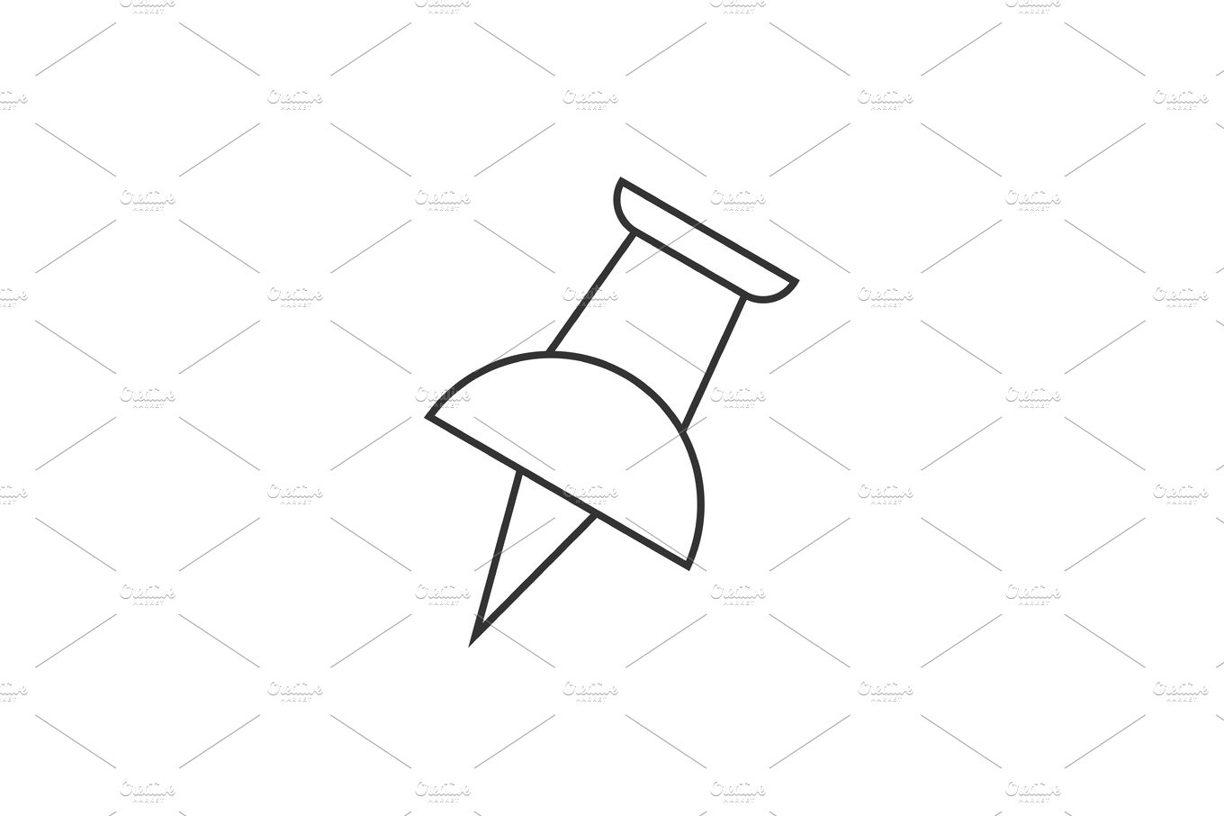 Push pin outline icon ~ Icons ~ Creative Market