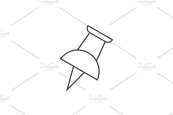 Push Pin Outline Icon