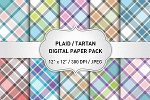 Plaid Patterns / Plaid Digital Paper