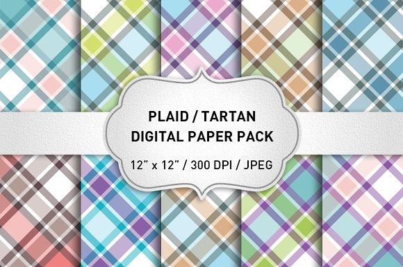 Plaid Patterns Plaid Digital Paper