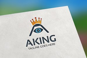 A King (Letter A) Logo