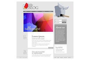 Gray Website Template