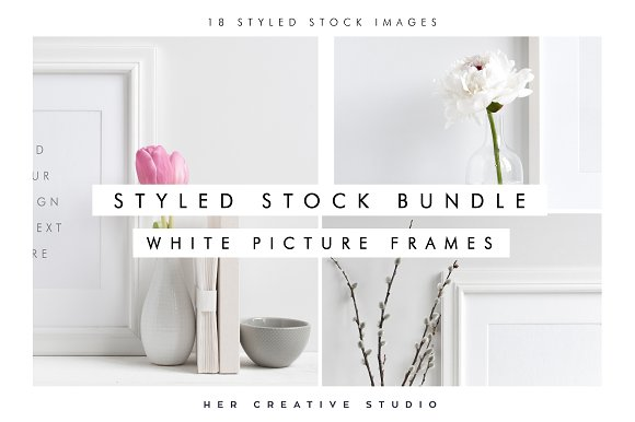 White Picture Frame Bundle
