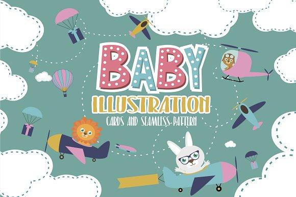 Air Baby Illustration Pattern