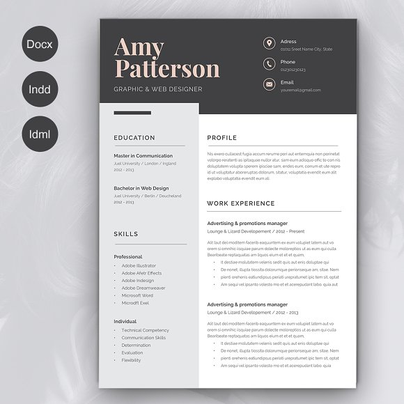 Resume Amy 2 Pages