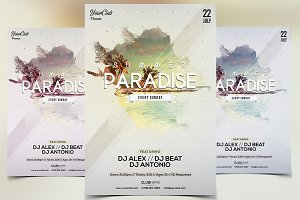 Summer Paradise - PSD Flyer Template