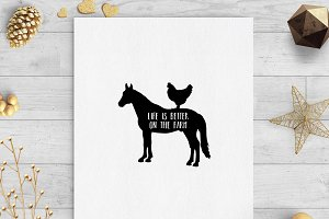 life is better on the farm clip svg