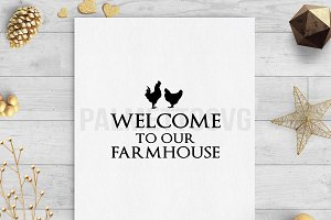 welcome to our farmhouse svg clip