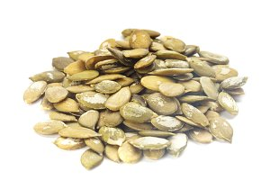 pumpkin seeds isolated