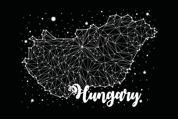 Hungary Map Constellation