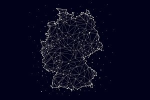 Germany map , constellation