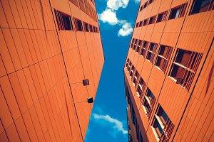 Orange modern buildings