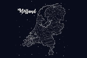 Map of Holland, constellation