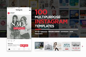 100 Multipurpose Instagram Templates