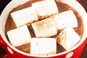 Chocolate with marshmallow