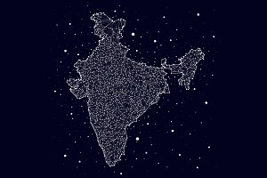 India. constellation map