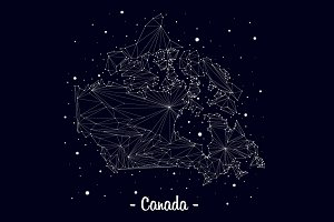 map canada constellation