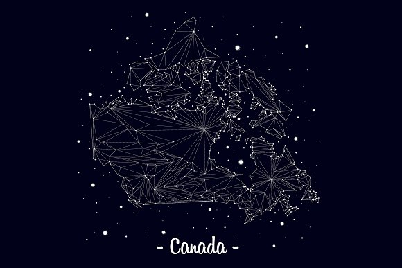 Map Canada Constellation
