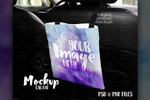 Car Backseat Bag Mockup