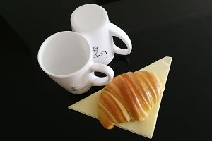 Cup and croissant