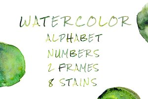 Watercolor Alphabet & More