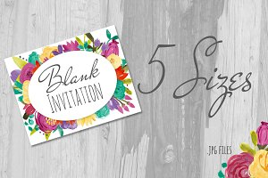 Watercolor flower poster/invitation