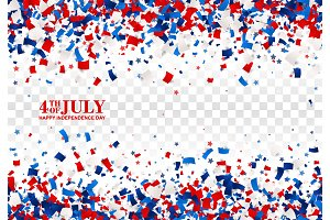 4th of July seamless pattern