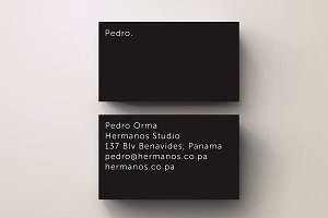 Orma Black Minimal Business Card