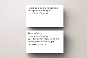Orma White Minimal Business Card $2