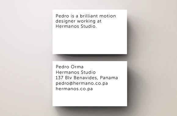 Orma White Minimal Business Card