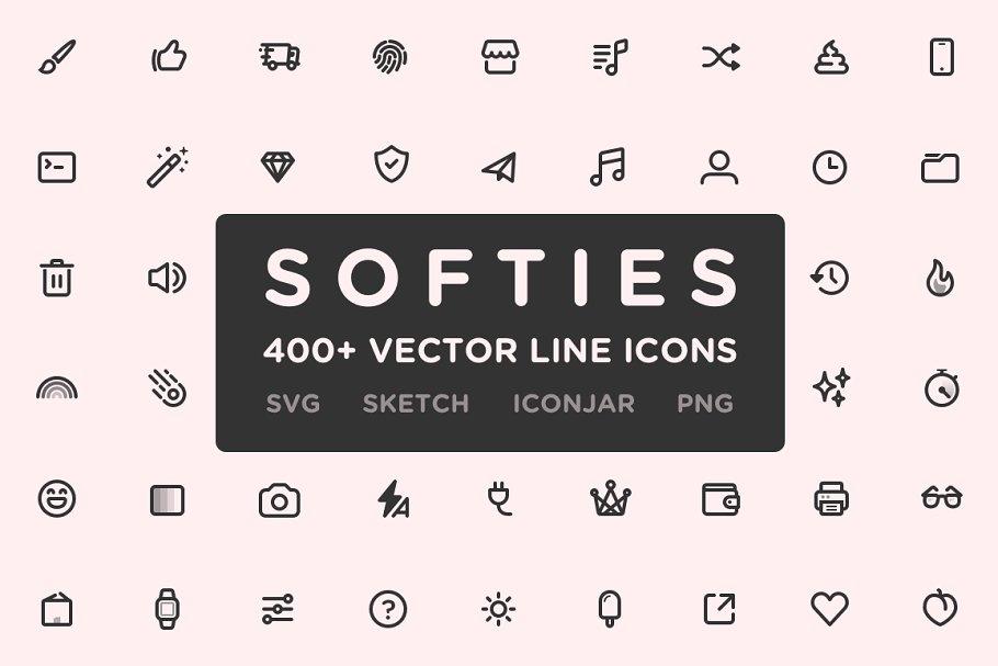 Softies - 400+ Vector Line Icons