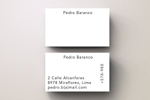 Baranco Simple Trendy Business Card