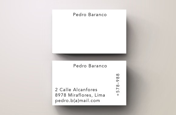 Baranco Simple Trendy Business Card