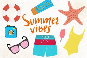 Set of 17 Cute Summer Things