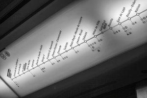 Plan of Paris Metro line