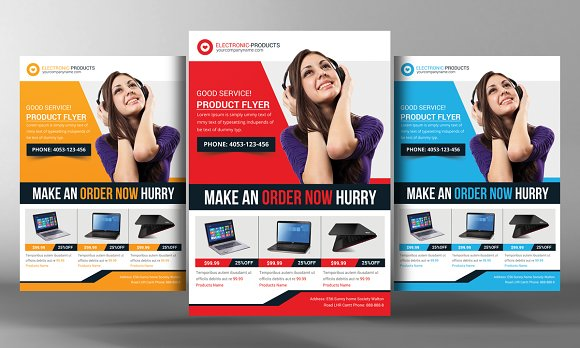 Product Promotion Flyer Template Flyer Templates on Creative Market – Product Flyer Template
