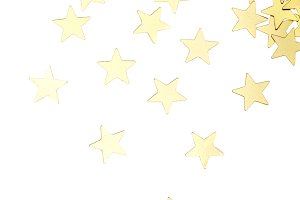 golden stars isolated