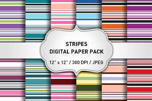Stripes Digital Paper Pack