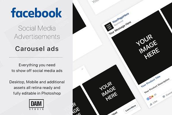 facebook carousel ad facebook templates creative market