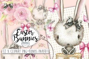 Bunny Clipart Watercolor