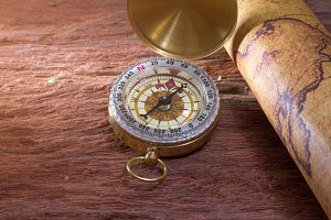 Old vintage compass