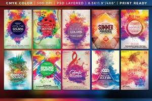 Mega Bundle Colorful Flyers Vol. 1