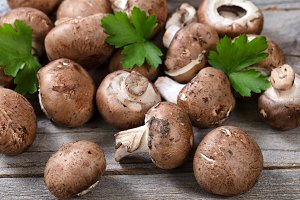 Organic Mushrooms and Herbs