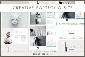 Koncept | Portfolio Site PSD