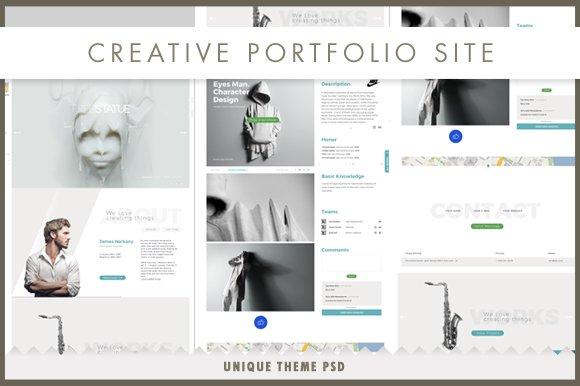 Koncept Portfolio Site PSD
