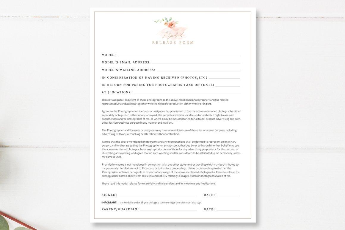 Photographer Model Release Template ~ Flyer Templates ~ Creative Market